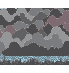 cloudy vector image vector image