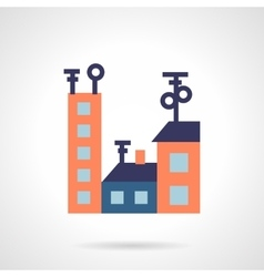 Colored houses flat icon vector image
