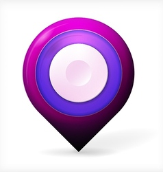 Colored realistic icon for marker geolocation vector image vector image