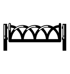 fence wooden icon simple black style vector image