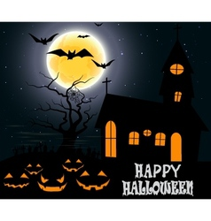 Halloween party on full moon vector image vector image