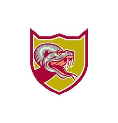 Rattle Snake Head Shield Retro vector image vector image