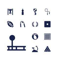 13 sport icons vector