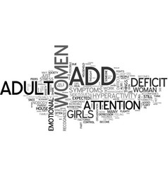 Adult add and women text word cloud concept vector