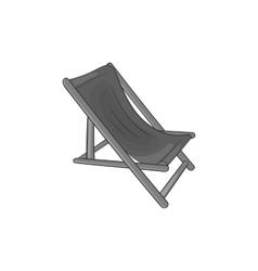 Beach chaise iconblack monochrome style vector