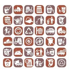 Big color garbage icons vector