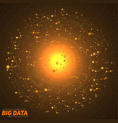 Big data orange visualization vector