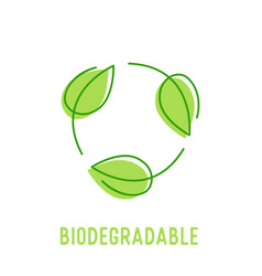 biodegradable symbol with circulate rotating green vector image