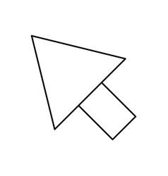Black silhouette arrowhead icon vector