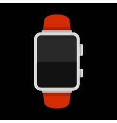Blank Smart Watch Isolated on Black Background vector