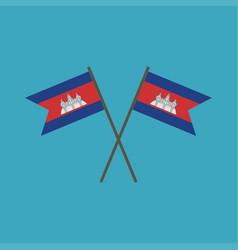 Cambodia flag icon in flat design vector