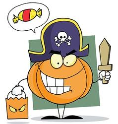 Cartoon character halloween pumpkin vector