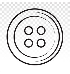 Clothing shirt button line art icons for apps vector