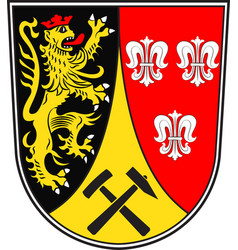 Coat of arms of amberg-sulzbach in bavaria germany vector