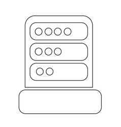 Computer server icon design vector