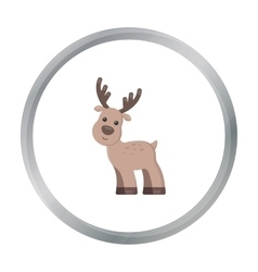 Deer cartoon icon for web and mobile vector