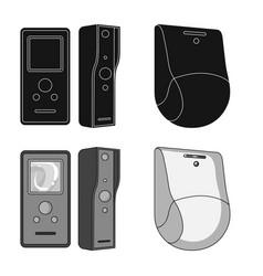 Design of cctv and camera icon set of cctv vector