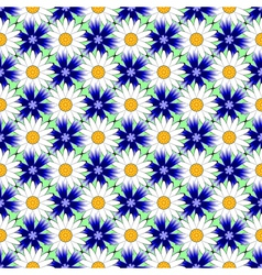 Design seamless colorful flower decorative pattern vector