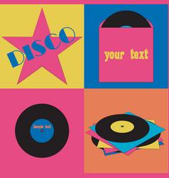 disco symbols vector image