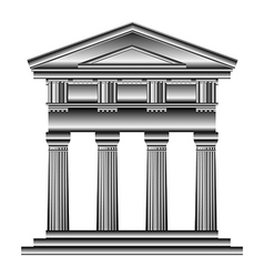 Doric temple vector image vector image