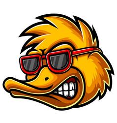 Duck head mascot logo vector
