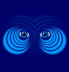 Eyes on a blue background vector image