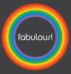 fabulous rainbow circle background template vector image