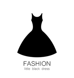 fashion dress template vector image