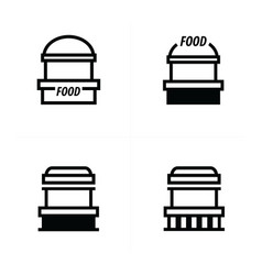 Fast food trolley icons design vector