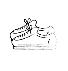 Figure sneakers to practice exercise and train vector