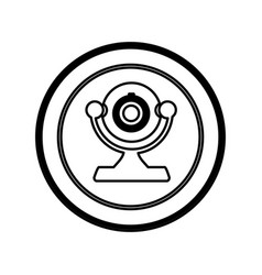 Figure symbol computer camera icon vector