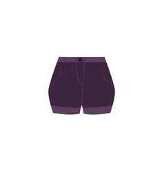 flat cartoon denim jeans women s shorts vector image