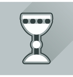 Flat icon with long shadow Holy Grail vector