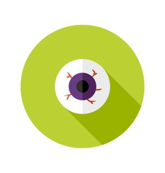 Halloween eyeball flat icon vector