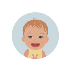 happy baby emoticon smiling child emoji vector image