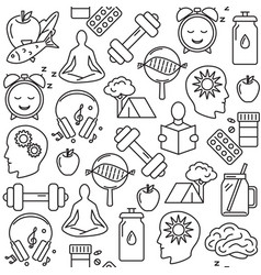 Health improvement concept seamless pattern in vector