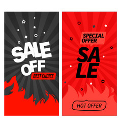 hot offer banners clipart vector image