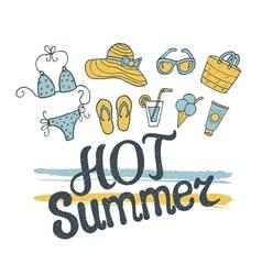 hot summer pattern vector image