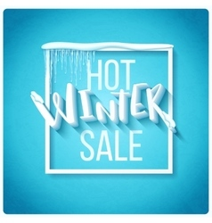Hot winter sale vector