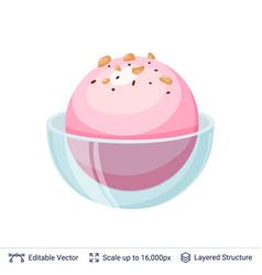 ice cream refreshing dessert vector image