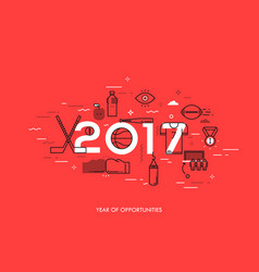 infographic banner 2017 - year of opportunities vector image
