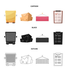 Isolated object of goods and cargo sign vector