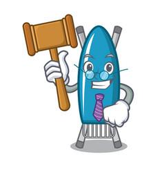 Judge iron board mascot cartoon vector