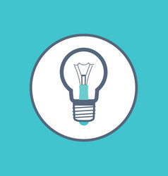 lamp giving light and illuminating bright colors vector image