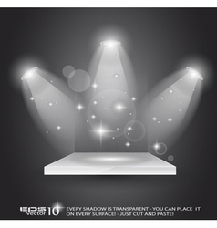 magic spotlights vector image