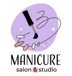 Manicure salon and studio nail care vector