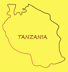 Map of the flag of the tanzania vector