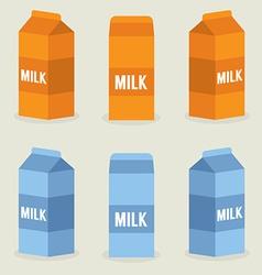 Milk Boxes Collection vector