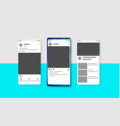 modern social media new feed post and home page vector image