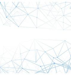 Molecular connection blue background vector